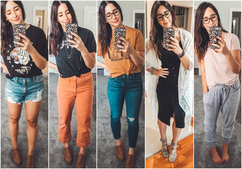Weekly outfits + the color I am incorporating into my Fall Capsule