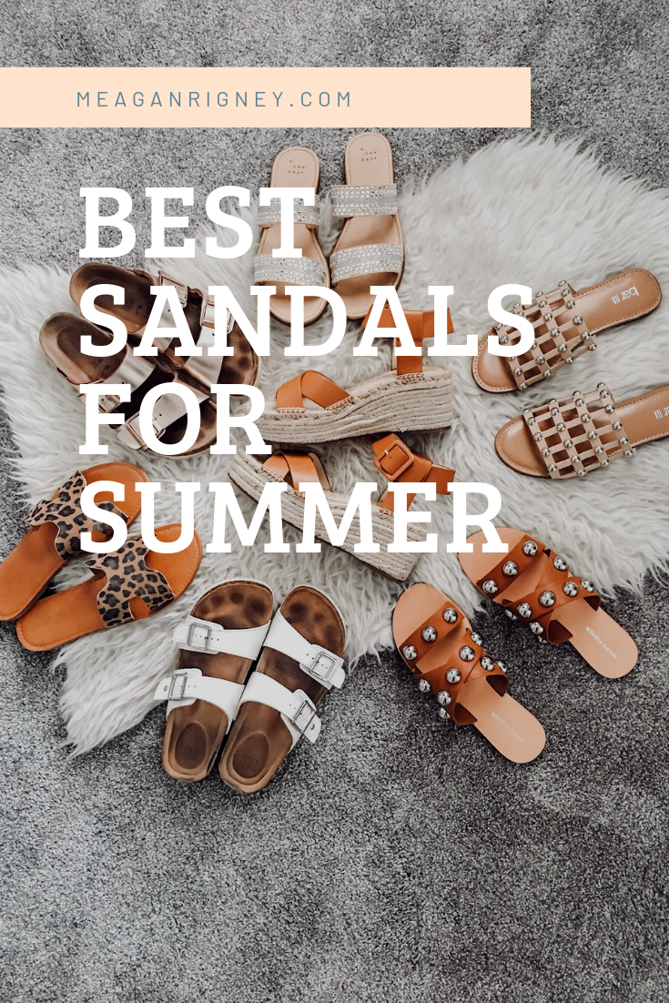 My most worn sandals this summer!